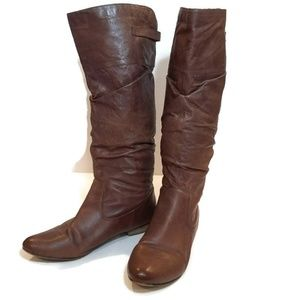 Steve Madden Brown Leather Craave Riding Boots
